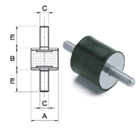 Anti-Vibration Mounting Male x Male